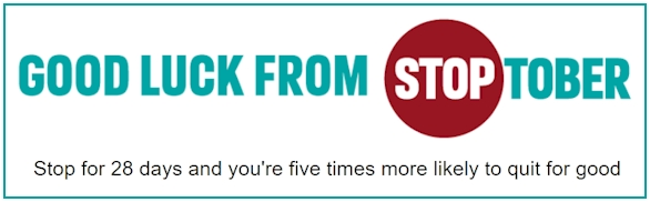 Good :Luck from Stoptober